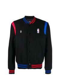 Мужская черная университетская куртка от Marcelo Burlon County of Milan