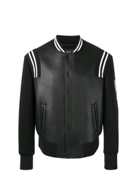 Мужская черная университетская куртка от Neil Barrett
