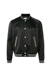 Мужская черная университетская куртка от Saint Laurent