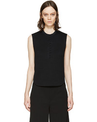 Женская черная футболка на пуговицах от 3.1 Phillip Lim