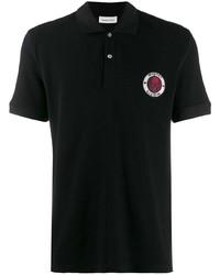 Мужская черная футболка-поло от Alexander McQueen