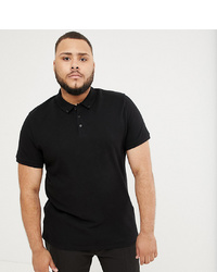 Мужская черная футболка-поло от ASOS DESIGN