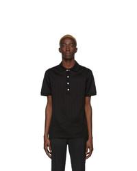 Мужская черная футболка-поло от Balmain