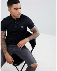 Мужская черная футболка-поло от BOSS