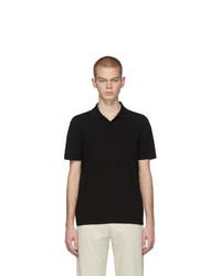 Мужская черная футболка-поло от Bottega Veneta