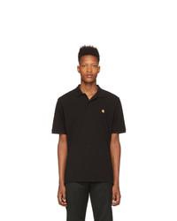 Мужская черная футболка-поло от CARHARTT WORK IN PROGRESS