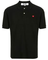 Мужская черная футболка-поло от Comme Des Garcons Play