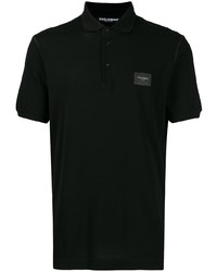 Мужская черная футболка-поло от Dolce & Gabbana
