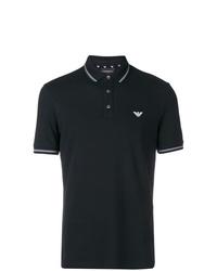 Мужская черная футболка-поло от Emporio Armani