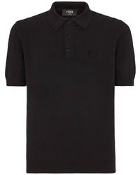 Мужская черная футболка-поло от Fendi