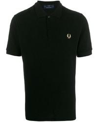 Мужская черная футболка-поло от Fred Perry