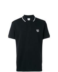 Мужская черная футболка-поло от Kenzo