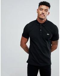 Мужская черная футболка-поло от Lacoste