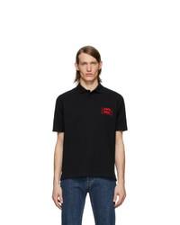 Мужская черная футболка-поло от Martine Rose