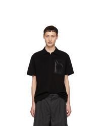 Мужская черная футболка-поло от Moncler Genius