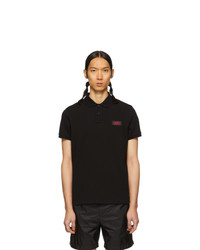 Мужская черная футболка-поло от Moncler