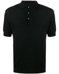 Мужская черная футболка-поло от N.Peal