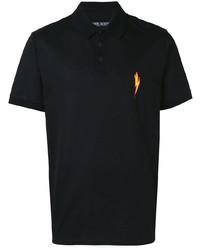Мужская черная футболка-поло от Neil Barrett