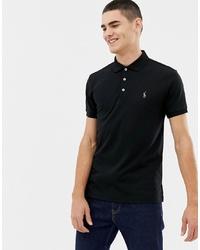 Мужская черная футболка-поло от Polo Ralph Lauren