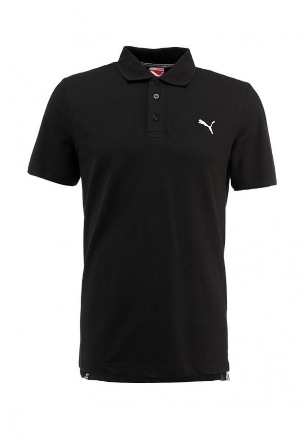 Мужская черная футболка-поло от Puma