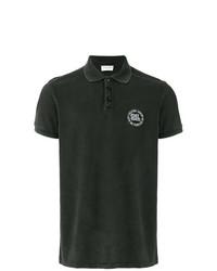 Мужская черная футболка-поло от Saint Laurent