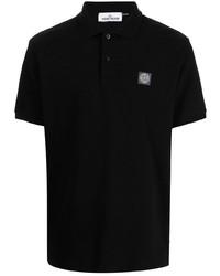 Мужская черная футболка-поло от Stone Island