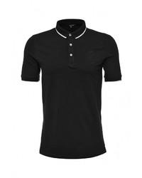 Мужская черная футболка-поло от Tom Farr