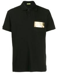 Мужская черная футболка-поло от VERSACE JEANS COUTURE