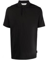 Мужская черная футболка-поло от Z Zegna