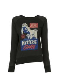Черная футболка с длинным рукавом с принтом