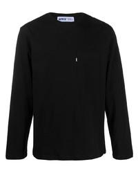 Мужская черная футболка с длинным рукавом от AFFIX