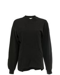 Женская черная футболка с длинным рукавом от Aganovich