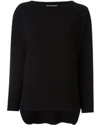 Женская черная футболка с длинным рукавом от Alberto Biani