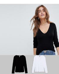 Женская черная футболка с длинным рукавом от Asos Petite