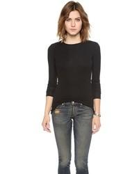 Женская черная футболка с длинным рукавом от ATM Anthony Thomas Melillo