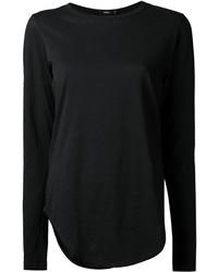 Женская черная футболка с длинным рукавом от Bassike