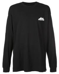 Мужская черная футболка с длинным рукавом от Daniel Patrick