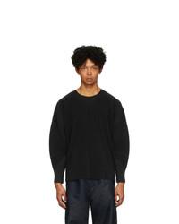 Мужская черная футболка с длинным рукавом от Homme Plissé Issey Miyake