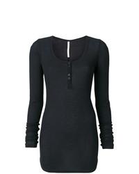 Женская черная футболка с длинным рукавом от Isabel Benenato