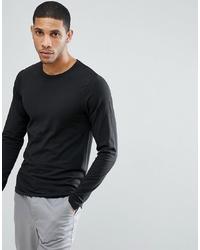 Мужская черная футболка с длинным рукавом от Jack & Jones
