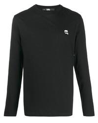 Мужская черная футболка с длинным рукавом от Karl Lagerfeld