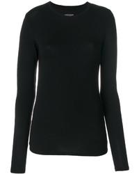 Женская черная футболка с длинным рукавом от Majestic Filatures
