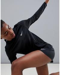 Женская черная футболка с длинным рукавом от Nike Running