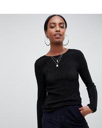 Женская черная футболка с длинным рукавом от Noisy May Tall