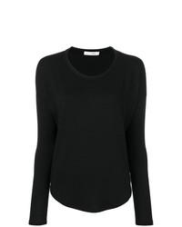 Женская черная футболка с длинным рукавом от rag & bone/JEAN