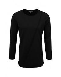 Мужская черная футболка с длинным рукавом от s.Oliver Denim