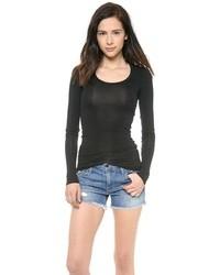 Женская черная футболка с длинным рукавом от Splendid