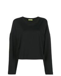 Женская черная футболка с длинным рукавом от Versace Jeans