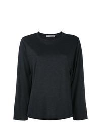 Женская черная футболка с длинным рукавом от Vince