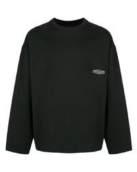 Мужская черная футболка с длинным рукавом от Wooyoungmi